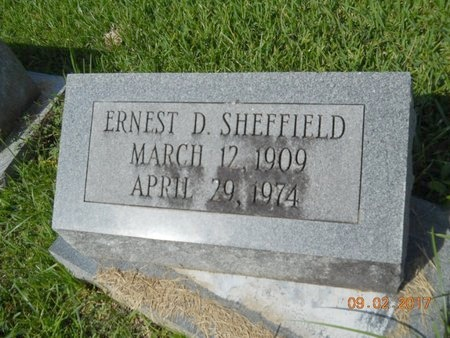 SHEFFIELD, ERNEST D - Warren County, Mississippi   ERNEST D SHEFFIELD - Mississippi Gravestone Photos