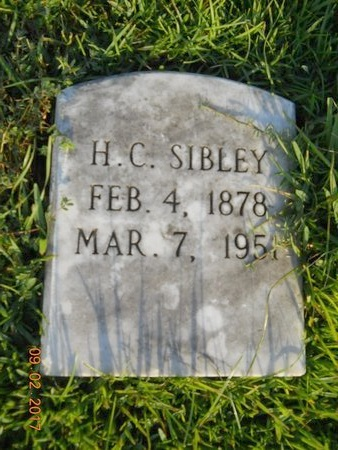 SIBLEY, H C - Warren County, Mississippi | H C SIBLEY - Mississippi Gravestone Photos