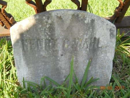 WAHL, HENRY G - Warren County, Mississippi | HENRY G WAHL - Mississippi Gravestone Photos