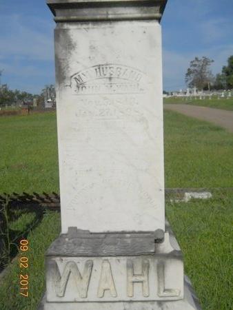 WAHL, JOHN M - Warren County, Mississippi   JOHN M WAHL - Mississippi Gravestone Photos