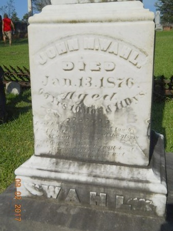 WAHL, JOHN M, SR - Warren County, Mississippi | JOHN M, SR WAHL - Mississippi Gravestone Photos