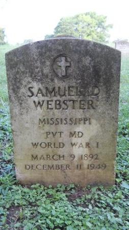 WEBSTER (VETERAN WWI), SAMUEL D (NEW) - Warren County, Mississippi   SAMUEL D (NEW) WEBSTER (VETERAN WWI) - Mississippi Gravestone Photos
