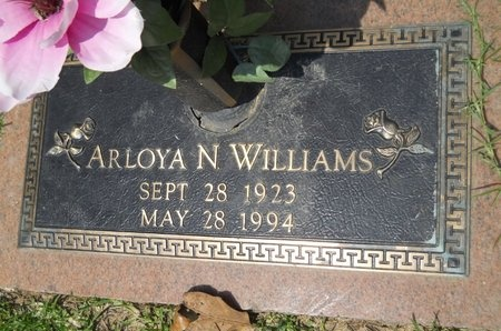 WILLIAMS, ARLOYA N - Warren County, Mississippi | ARLOYA N WILLIAMS - Mississippi Gravestone Photos