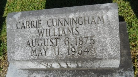 WILLIAMS, CARRIE - Warren County, Mississippi   CARRIE WILLIAMS - Mississippi Gravestone Photos