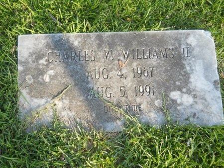 WILLIAMS, CHARLES W., II - Warren County, Mississippi | CHARLES W., II WILLIAMS - Mississippi Gravestone Photos