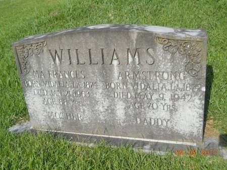 WILLIAMS, FRANCES - Warren County, Mississippi | FRANCES WILLIAMS - Mississippi Gravestone Photos
