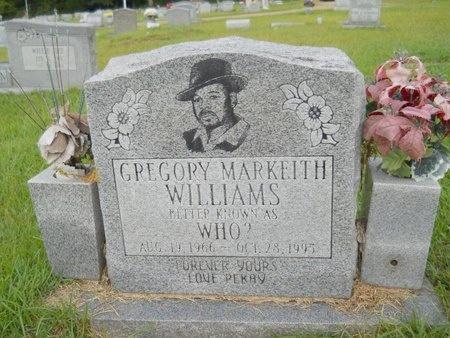 WILLIAMS, GREGORY MARKEITH - Warren County, Mississippi | GREGORY MARKEITH WILLIAMS - Mississippi Gravestone Photos