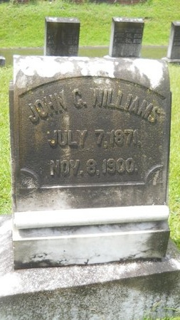 WILLIAMS, JOHN C - Warren County, Mississippi | JOHN C WILLIAMS - Mississippi Gravestone Photos