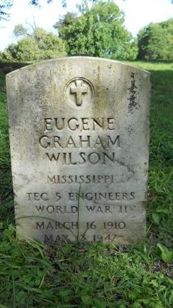 WILSON (VETERAN WWII), EUGENE GRAHAM (NEW) - Warren County, Mississippi | EUGENE GRAHAM (NEW) WILSON (VETERAN WWII) - Mississippi Gravestone Photos