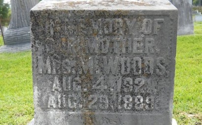 WOODS, M - Warren County, Mississippi | M WOODS - Mississippi Gravestone Photos