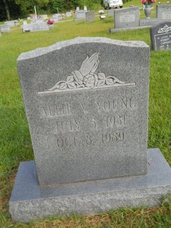 YOUNG, ALLIE V - Warren County, Mississippi   ALLIE V YOUNG - Mississippi Gravestone Photos