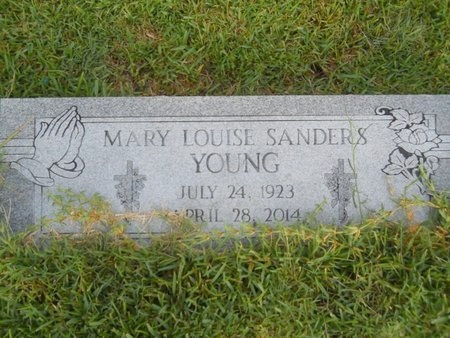 YOUNG, MARY LOUISE - Warren County, Mississippi | MARY LOUISE YOUNG - Mississippi Gravestone Photos