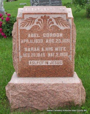 WILLIAMS ABEL, SARAH ANN - Adair County, Missouri | SARAH ANN WILLIAMS ABEL - Missouri Gravestone Photos