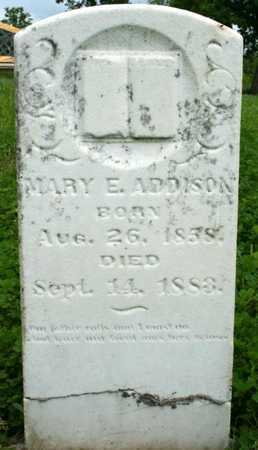 CLAYBROOK ADDISON, MARY E - Adair County, Missouri | MARY E CLAYBROOK ADDISON - Missouri Gravestone Photos
