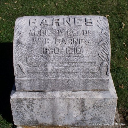 BARNES, ADDIE - Adair County, Missouri | ADDIE BARNES - Missouri Gravestone Photos