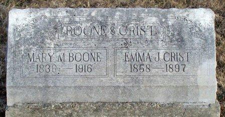 BOONE CRIST, EMMA J - Adair County, Missouri | EMMA J BOONE CRIST - Missouri Gravestone Photos