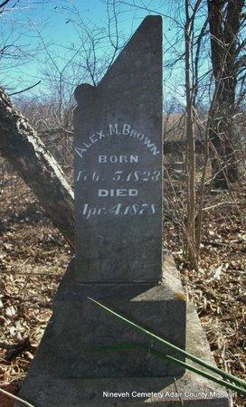 BROWN, ALEXANDER MCLEAN - Adair County, Missouri   ALEXANDER MCLEAN BROWN - Missouri Gravestone Photos