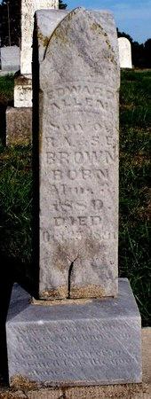 BROWN, EDWARD ALLEN - Adair County, Missouri | EDWARD ALLEN BROWN - Missouri Gravestone Photos