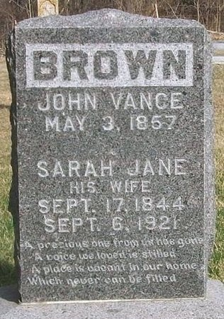 BROWN, JOHN VANCE - Adair County, Missouri | JOHN VANCE BROWN - Missouri Gravestone Photos