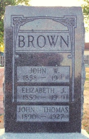 BROWN, JOHN WESLEY - Adair County, Missouri | JOHN WESLEY BROWN - Missouri Gravestone Photos