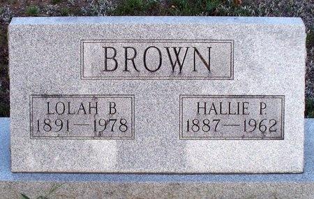 BROWN, HALLIE PHILLIP - Adair County, Missouri | HALLIE PHILLIP BROWN - Missouri Gravestone Photos