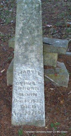 BROWN, MARY A - Adair County, Missouri | MARY A BROWN - Missouri Gravestone Photos
