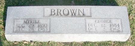 BROWN, GEORGE - Adair County, Missouri | GEORGE BROWN - Missouri Gravestone Photos