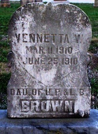 BROWN, VENNETTA W. - Adair County, Missouri | VENNETTA W. BROWN - Missouri Gravestone Photos