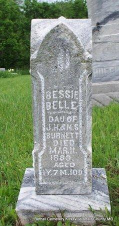 BURNETT, BESSIE BELLE - Adair County, Missouri   BESSIE BELLE BURNETT - Missouri Gravestone Photos