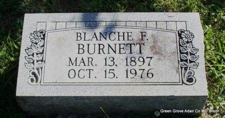 BURNETT, BLANCHE F - Adair County, Missouri | BLANCHE F BURNETT - Missouri Gravestone Photos