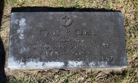 CIMA, ANTHONY B. (VETERAN WWI) - Adair County, Missouri | ANTHONY B. (VETERAN WWI) CIMA - Missouri Gravestone Photos