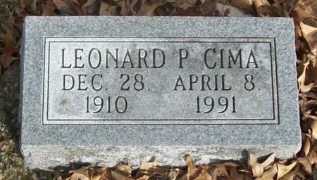 CIMA, LEONARD P. - Adair County, Missouri | LEONARD P. CIMA - Missouri Gravestone Photos