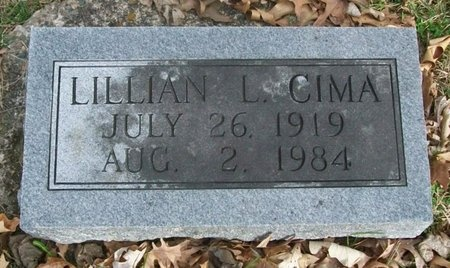 CIMA, LILLIAN LUCILLE - Adair County, Missouri | LILLIAN LUCILLE CIMA - Missouri Gravestone Photos