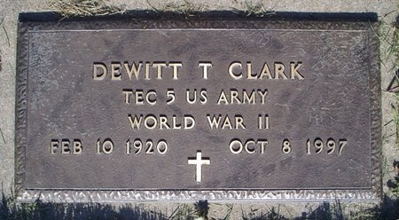 CLARK, DEWITT T. (VETERAN WWII) - Adair County, Missouri | DEWITT T. (VETERAN WWII) CLARK - Missouri Gravestone Photos
