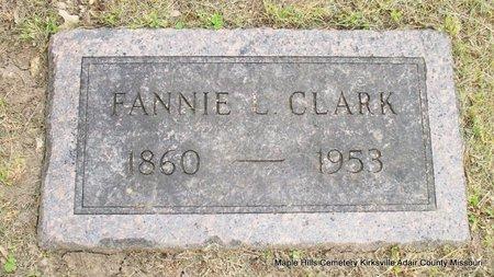 CLARK, FANNIE LANE - Adair County, Missouri | FANNIE LANE CLARK - Missouri Gravestone Photos