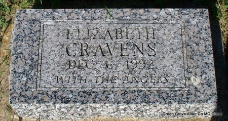 CRAVENS, ELIZABETH - Adair County, Missouri | ELIZABETH CRAVENS - Missouri Gravestone Photos