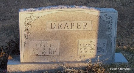 DRAPER, IRENE CLAUDIA - Adair County, Missouri | IRENE CLAUDIA DRAPER - Missouri Gravestone Photos