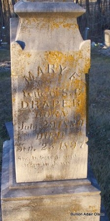 DRAPER, MARY F - Adair County, Missouri | MARY F DRAPER - Missouri Gravestone Photos