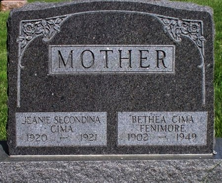 CIMA, JEANIE SECONDINA - Adair County, Missouri | JEANIE SECONDINA CIMA - Missouri Gravestone Photos