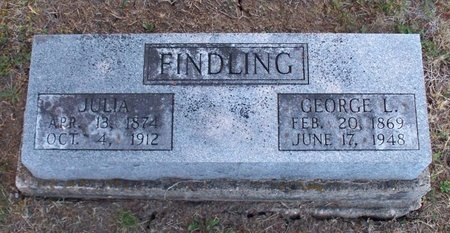 FINDLING, JULIA E. - Adair County, Missouri   JULIA E. FINDLING - Missouri Gravestone Photos