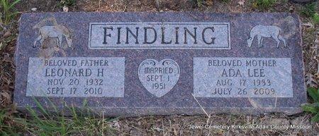 FINDLING, ADA LEE - Adair County, Missouri | ADA LEE FINDLING - Missouri Gravestone Photos