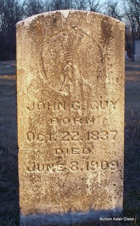 GUY, JOHN G - Adair County, Missouri | JOHN G GUY - Missouri Gravestone Photos