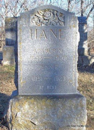 HANE, JENNIE - Adair County, Missouri | JENNIE HANE - Missouri Gravestone Photos