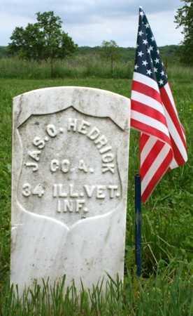 HEDRICK, JAMES OSTER VETERAN CW - Adair County, Missouri | JAMES OSTER VETERAN CW HEDRICK - Missouri Gravestone Photos