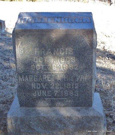 HOLLENBECK, FRANCIS - Adair County, Missouri | FRANCIS HOLLENBECK - Missouri Gravestone Photos