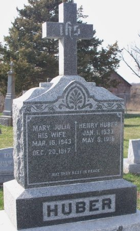 HUBER, MARY JULIA - Adair County, Missouri | MARY JULIA HUBER - Missouri Gravestone Photos