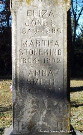 SMITH, ANNA (CLOSE UP) - Adair County, Missouri | ANNA (CLOSE UP) SMITH - Missouri Gravestone Photos