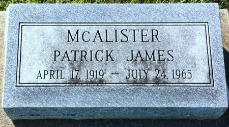 MCCALISTER, PATRICK JAMES - Adair County, Missouri | PATRICK JAMES MCCALISTER - Missouri Gravestone Photos