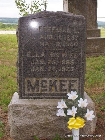 MCKEE, FREEMAN E - Adair County, Missouri | FREEMAN E MCKEE - Missouri Gravestone Photos