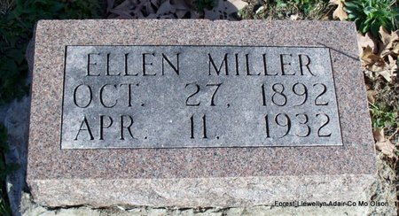 MILLER, ELLEN - Adair County, Missouri | ELLEN MILLER - Missouri Gravestone Photos